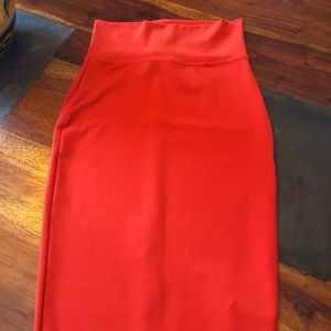 Bebe red ❤️ pencil skirt 😍